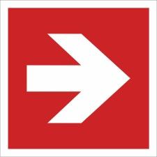 30. Pfeil 90° Brandschutzzeichen - Schild 200 x 200 mm