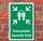 Schild Sammelstelle Sammelplatz Sammelpunkt Fluchtweg 3 mm Alu-Verbund 300 x 200 mm