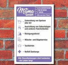 Schild Mutter Mama GmbH Muttertag Geburtstag Geschenk 3...