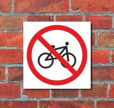 Schild Fahrrad verboten Fahrräder Türschild...