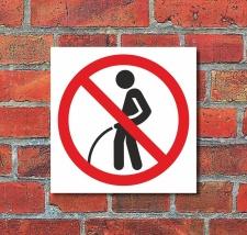 Schild Pinkeln verboten Urinieren Pissen Türschild...