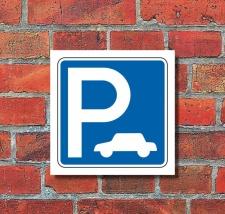 Schild Parkplatz für Autos Hinweisschild...