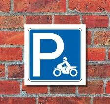Schild Parkplatz Motorräder Motorrad Hinweisschild...