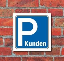 Schild Parkplatz Kunden Hinweisschild Parkplatzschild 200...