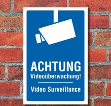 Schild Videoüberwachung videoüberwacht Video...
