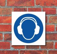 Schild Gehörschutz benutzen Gebotsschild...