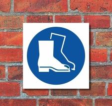 Schild Fußschutz benutzen Gebotsschild...