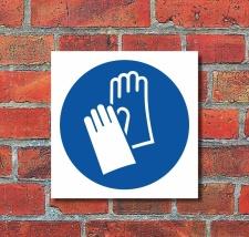 Schild Handschutz benutzen Gebotsschild Hinweisschild 200...