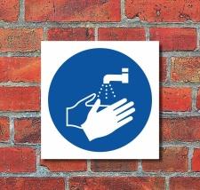 Schild Hände waschen Gebotsschild Hinweisschild 200...