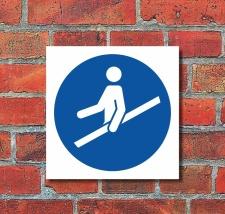 Schild Handlauf benutzen Gebotsschild Hinweisschild 200 x...