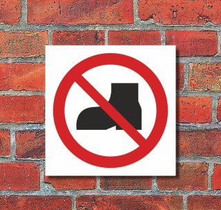 Schild Hinweisschild Verbotsschild Anlegen verboten 3 mm Alu-Verbund