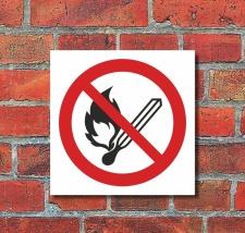 Schild Feuer offenes Licht und Rauchen verboten...