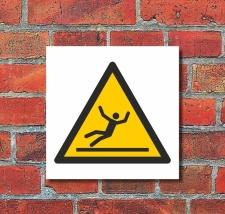 Schild Warnung Vorsicht Rutschgefahr Glatt Warnschild 200...