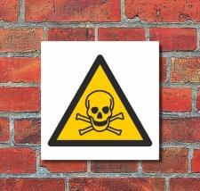 Schild Warnung Giftige Stoffe Rattengift Warnschild 200 x...
