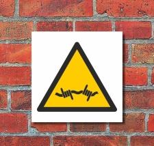 Schild Warnung Stacheldraht Warnschild 200 x 200 mm