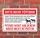 Schild Achtung Pferde nicht füttern Kolikgefahr Hufrehe 3 mm Alu-Verbund 300 x 200 mm