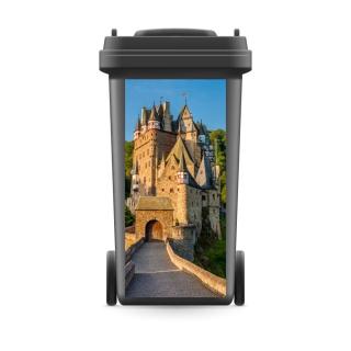 Mülltonnenaufkleber Mülltonne Mülleimer Abfalltonne Schloss Burg Mittelalter