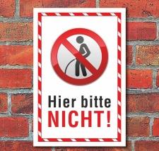 Schild Pinkeln Urinieren Pissen verboten Hinweisschild 3...