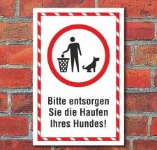 Schild Entsorgen Sie Hundekot Hundehaufen Hundekacke...