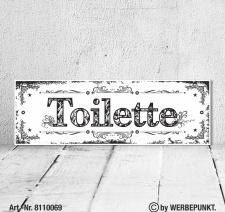 Vintage Shabby Holzschild Wandschild Toilette Bad WC...