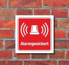 Schild Alarmgesichert Warnschild Hinweisschild 200 x 200...