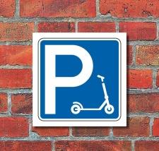 Schild Parkplatz Stellplatz E Scooter Tretroller...