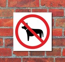 Schild Hunde verboten Türschild Hinweisschild 400 x...