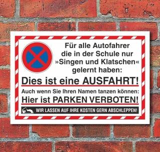 Schild Parken verboten 3 mm Alu-Verbund