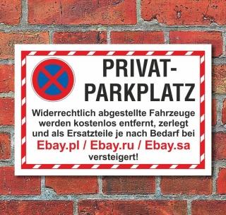 Sammeln & Seltenes 3 mm Alu-Verbund Sammler-Werbeschilder Schild Parken verboten