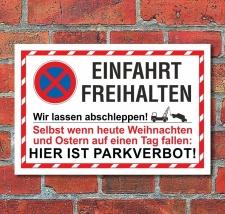 Schild Parkverbot Parken verboten Halteverbot Einfahrt...