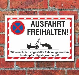 Schild Parkverbot Parken verboten Halteverbot 150 Euro 3 mm Alu-Verbund