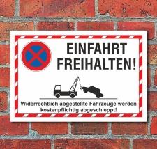 Schild Parkverbot Halteverbot Einfahrt freihalten 3 mm...