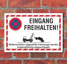 Schild Parkverbot Halteverbot Eingang freihalten 3 mm...