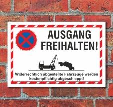 Schild Parkverbot Halteverbot Ausgang freihalten 3 mm...