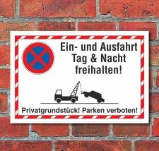 Schild Parkverbot Halteverbot Ein- und Ausfahrt...
