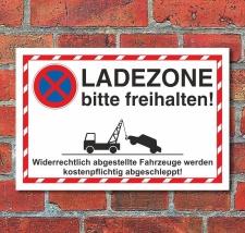 Schild Parkverbot Halteverbot Parken verboten Ladezone 3...