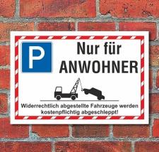 Schild Halteplatz Parkplatz Parkfläche Nur für...