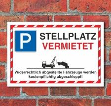 Schild Parkverbot Halteverbot Parkplatz Stellplatz...