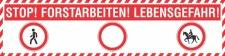 PVC Werbebanner Banner Plane Forstarbeiten Waldarbeiten...