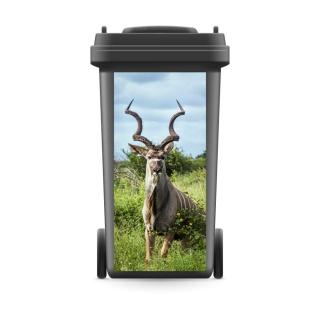Mülltonnenaufkleber Mülltonne Abfalltonne Sticker Aufkleber Antilope Hornträger