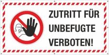 PVC Werbebanner Banner Plane Baustelle Zutritt für...