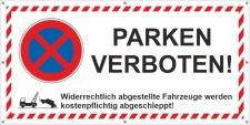 PVC Werbebanner Banner Plane Parken verboten Parkverbot...