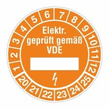 Prüfplakette Elektroprüfung 20-25 geprüft,...