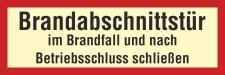 17. Brandabschnittstür - 3 mm Alu-Verbund Schild