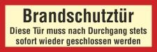 Brandschutzzeichen Brandschutztür geschlossen Feuer...
