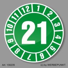Prüfplakette 21 Jahresplakette Siegel Aufkleber BGR...