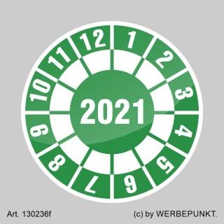 Prüfplakette 2021 Jahresplakette Siegel Aufkleber BGR UVV BGV Wartung - Ø 30 mm