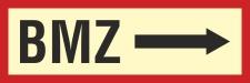 Brandschutzzeichen BMZ rechts Brandmeldezentrale Feuer...