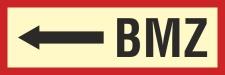 BMZ links - 3 mm Alu-Verbund Schild