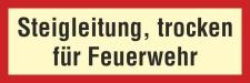 Brandschutzzeichen Steigleitung Feuerwehr Feuer Rauch...